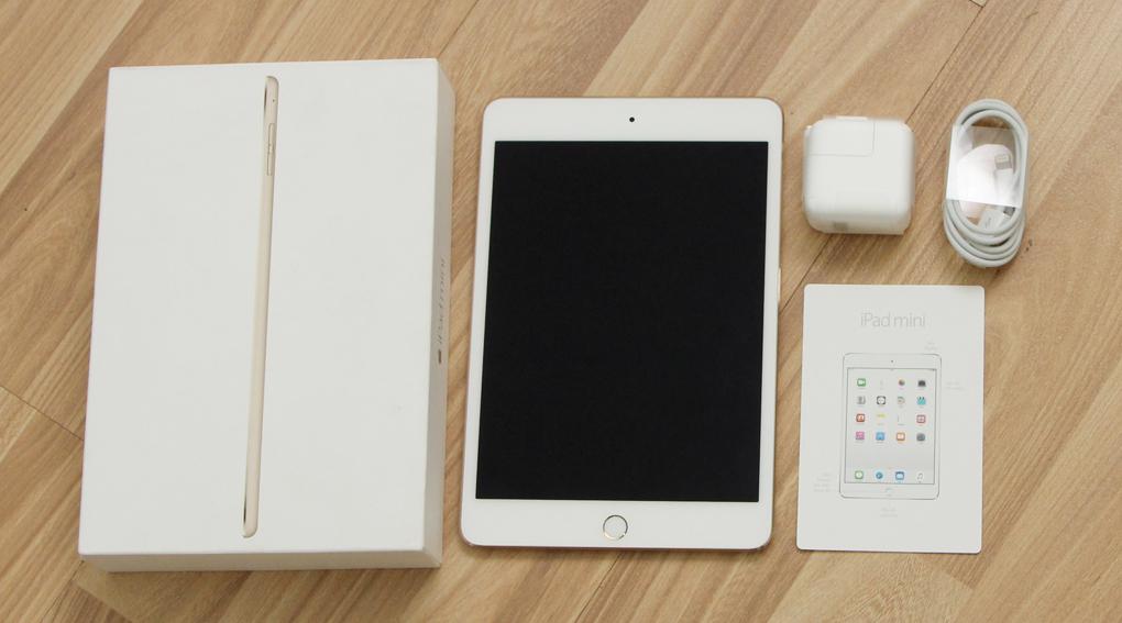 Bộ sản phẩm chuẩn của iPad Mini 4 Wifi 64GB