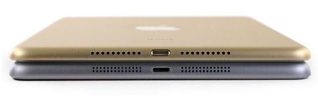iPad Mini 4 được đục 1 hàng loa thay vì 2 hàng 2 loa như thế hệ trước