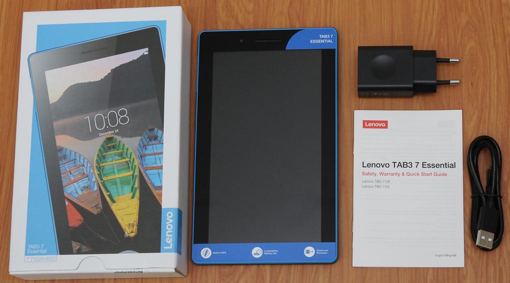 Bộ sản phẩm chuẩn của Lenovo Tab 3 Essential