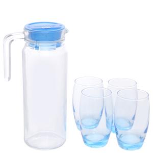 Bộ bình ly thủy tinh 1.1 lít Luminarc Rotterdam Ice Blue (5 món)