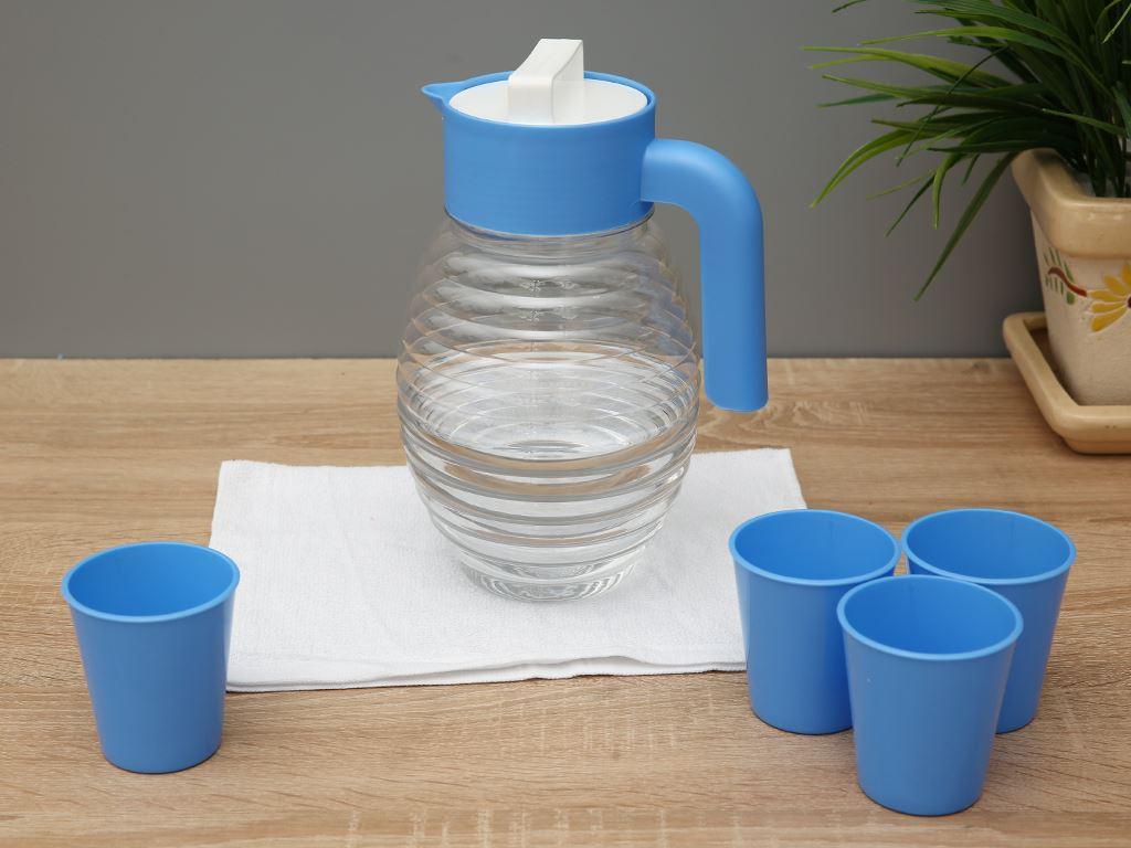 Bộ bình 2.5 lít và 4 ly nhựa Đồng Tâm (giao màu ngẫu nhiên) 1