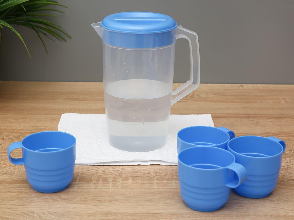 Bộ bình ly nhựa 1.8 lít Đồng Tâm (5 món) (giao màu ngẫu nhiên) 1