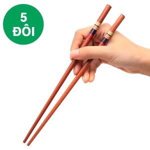 Bộ 5 đôi đũa gỗ sọc ngang DMX DG001-05