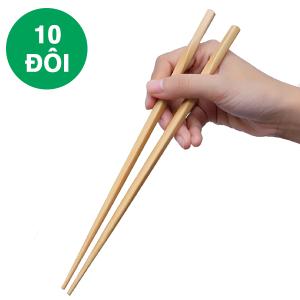 Bộ 10 đôi đũa tre 24cm DMX DT002-10