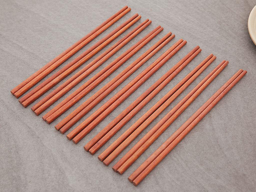 Bộ 10 đôi đũa gỗ cà chí 24cm Điện Máy XANH DG002-10 3