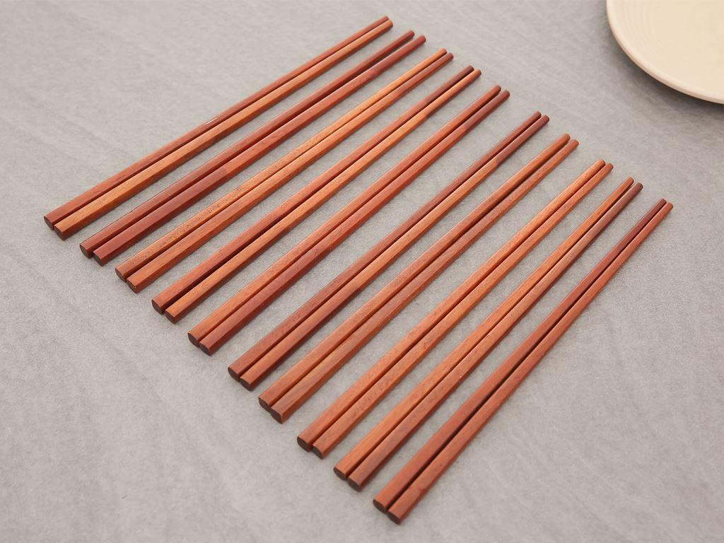 Bộ 10 đôi đũa gỗ hương 24cm Điện Máy XANH DG003-10 3