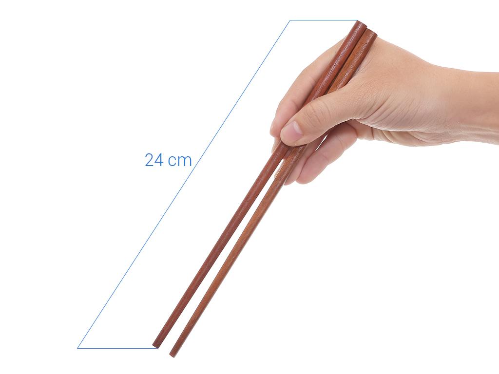 Bộ 10 đôi đũa gỗ hương 24cm Điện Máy XANH DG003-10 7