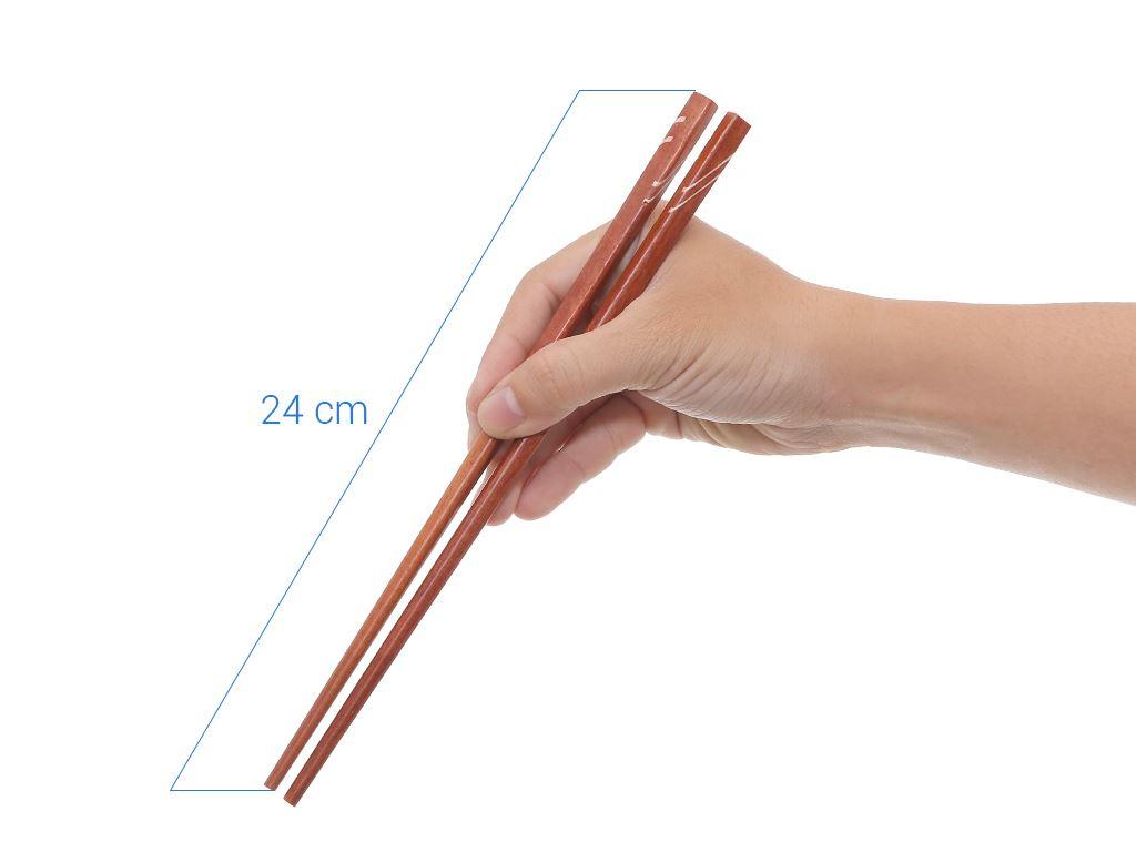 Bộ 10 đôi đũa ổi cẩn đặc biệt 24cm Bách Hoá Xanh DGC-002-10 7