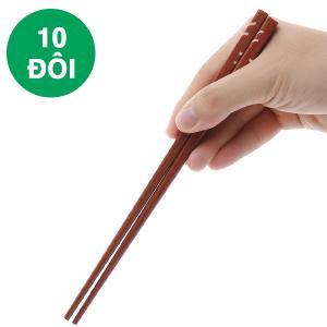 Bộ 10 đôi đũa ổi cẩn đặc biệt 24cm Bách Hoá Xanh DGC-002-10