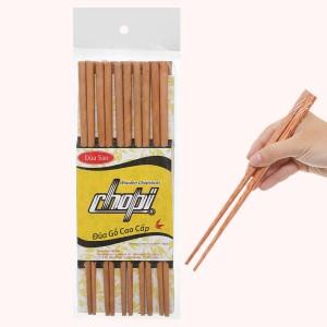 Bộ 10 đôi đũa gỗ sao đá 25cm Chopi