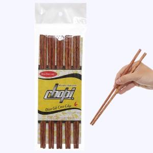 Bộ 10 đôi đũa dừa loại 1 24.5cm Chopi
