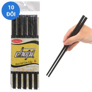 Bộ 10 đôi đũa gỗ hương tràm 24.5cm Chopi