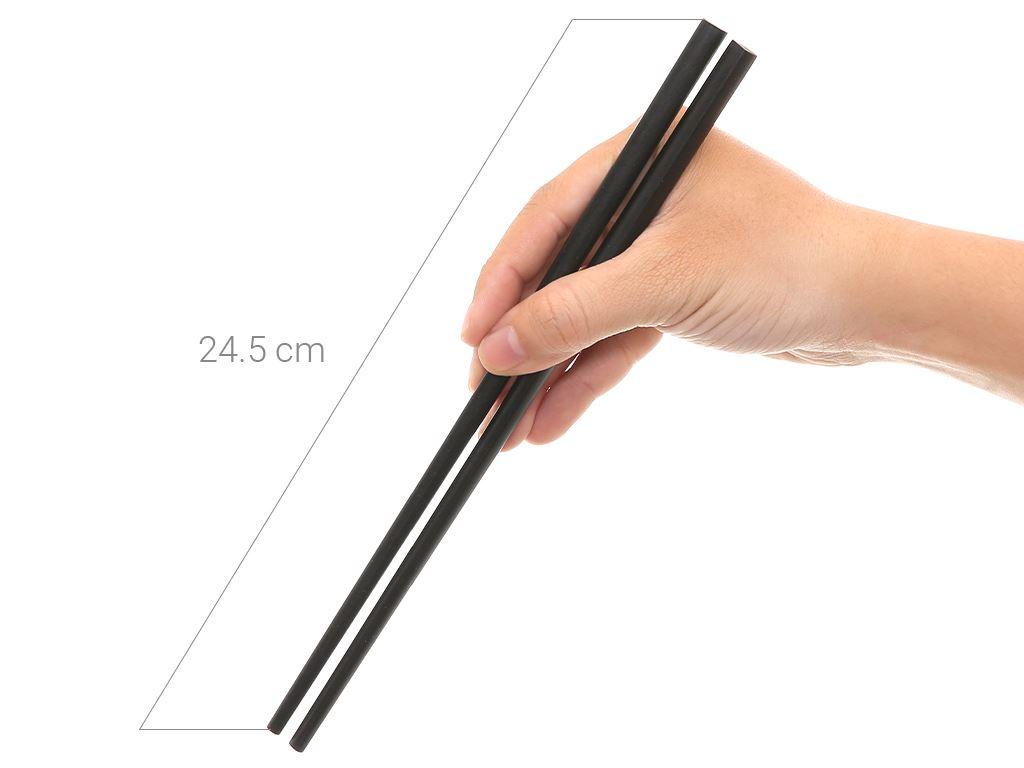 Bộ 10 đôi đũa gỗ hương tràm 24.5cm Chopi 7