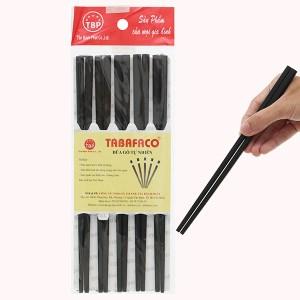 Bộ 10 đôi đũa gỗ hương tràm đen 24cm Tân Bách Phát