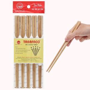 Bộ 10 đôi đũa gỗ sao 24cm Tân Bách Phát