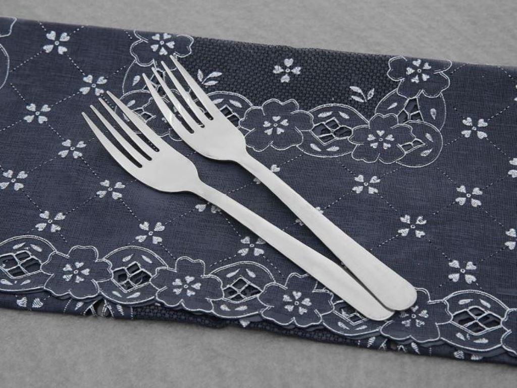 Bộ 2 nĩa ăn inox 430 cán dài trơn 18cm Anpha Cook AC12 - NA15.180 3