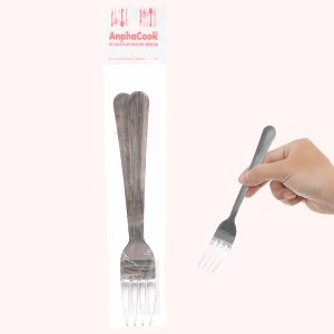 Bộ 2 nĩa ăn inox 430 cán dài trơn 18cm Anpha Cook AC12 - NA15.180
