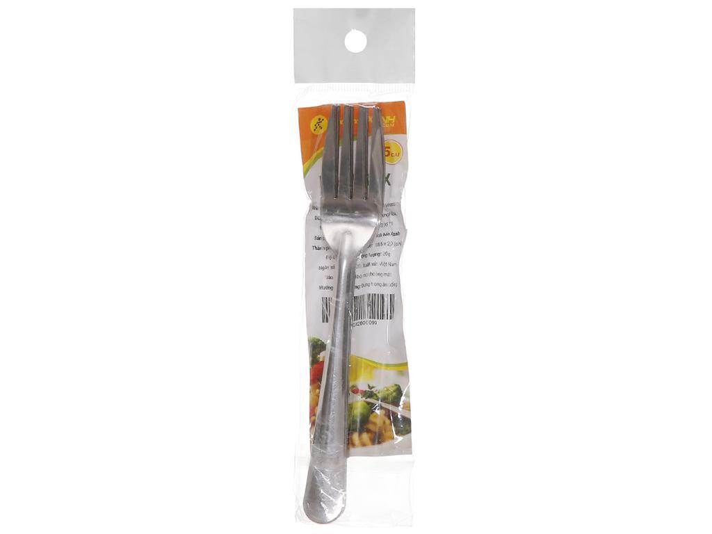 Bộ 5 nĩa inox cán dài trơn 18.5 cm Bách hóa XANH VNS132-5 1