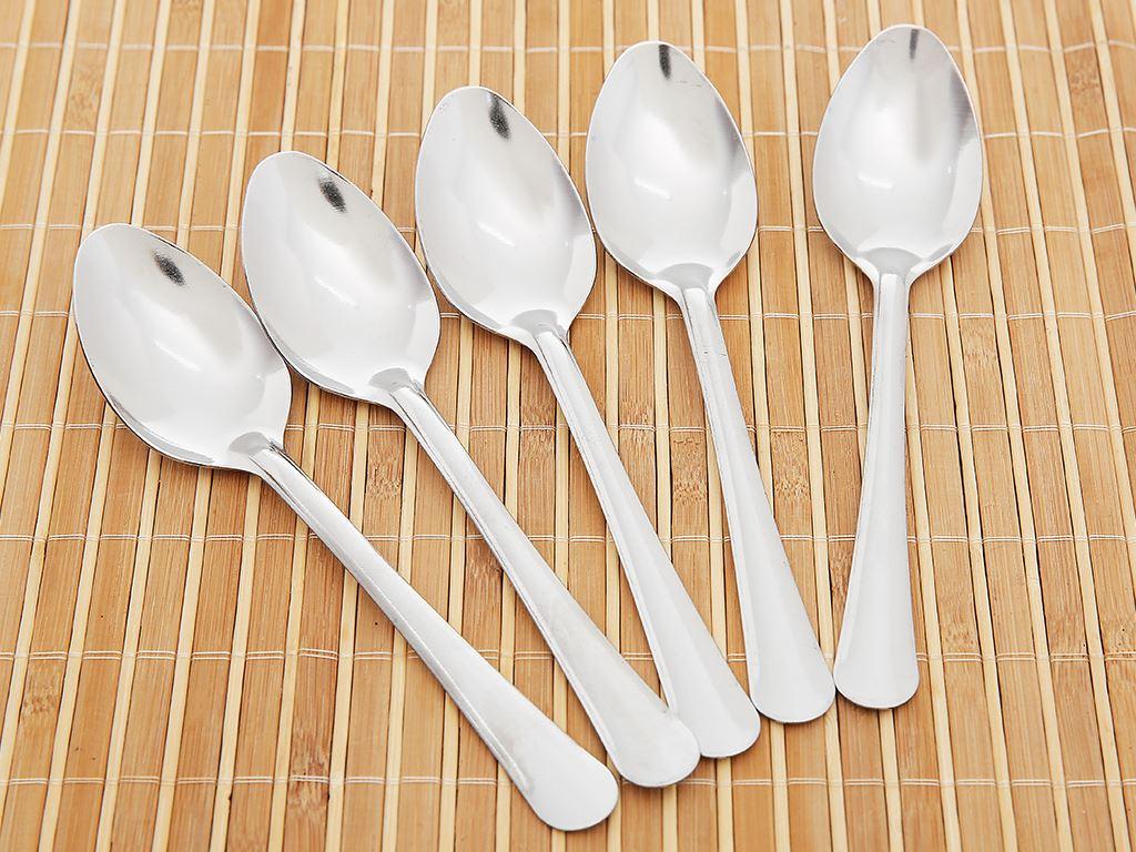 Bộ 5 muỗng soup nhọn inox cán dài trơn 17.7cm Bách hóa XANH VNS135-5 3