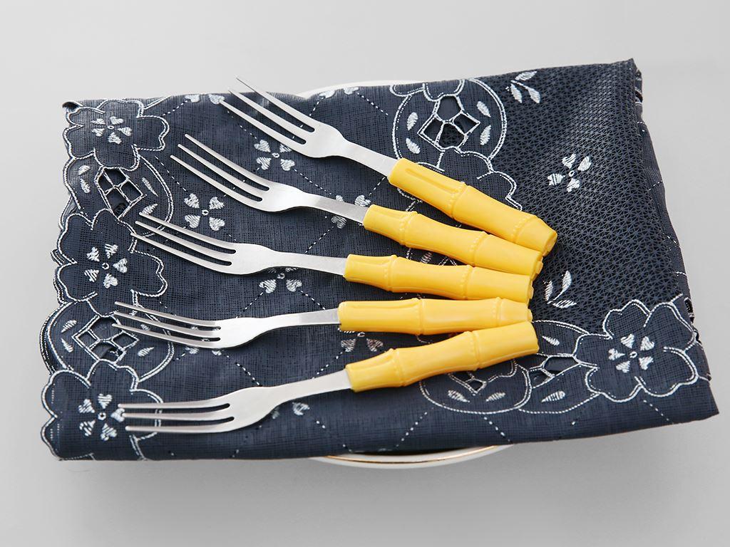 Bộ 5 nĩa inox cán ngắn 11.5 cm Anpha Cook AC208-NTC115 3