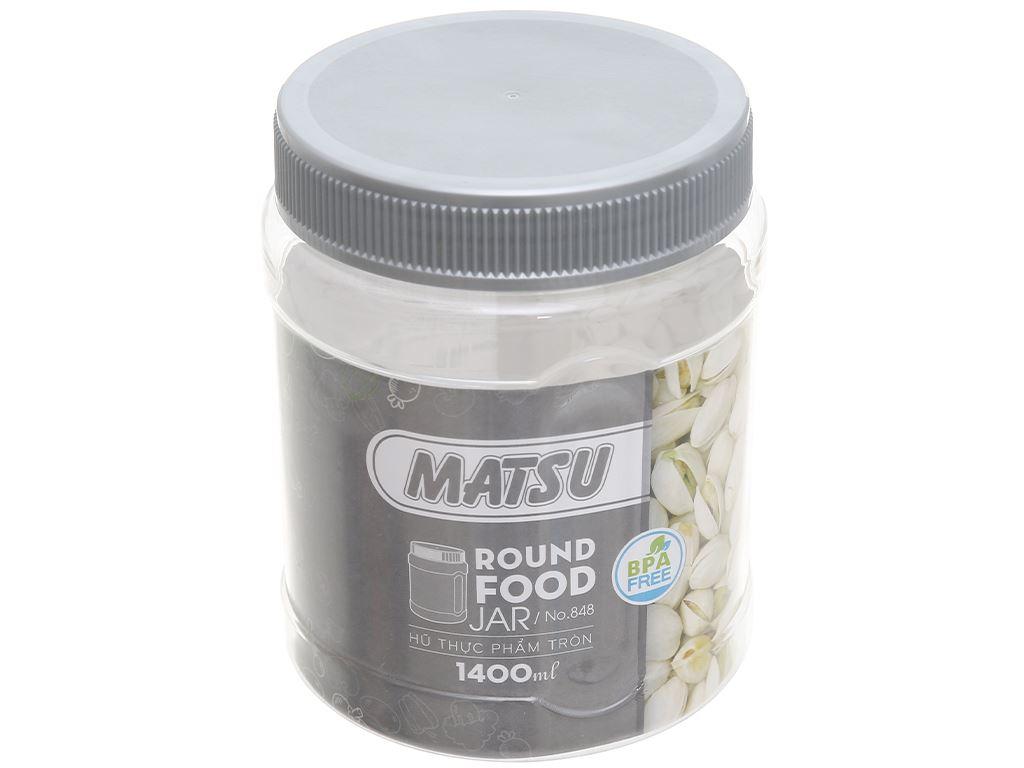 Hũ đựng thực phẩm tròn nhựa Duy Tân Matsu (giao màu ngẫu nhiên) 1.4 lít 1