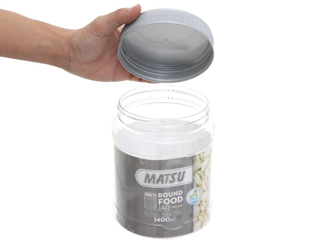 Hũ đựng thực phẩm tròn nhựa Duy Tân Matsu (giao màu ngẫu nhiên) 1.4 lít 2