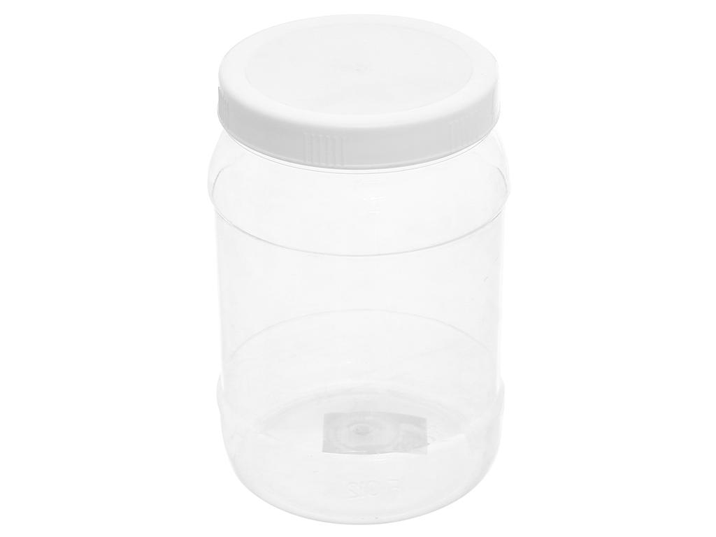 Hũ đựng thực phẩm nhựa tròn 1.4 lít Duy Tân 1