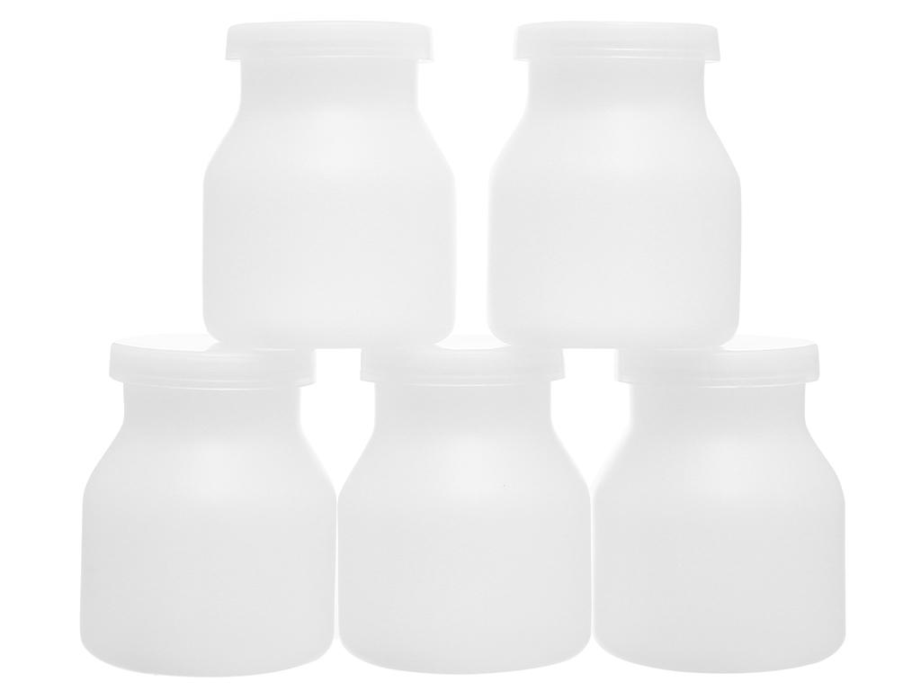 Bộ 5 hũ đựng sữa chua nhựa Tân Bách Phát 1