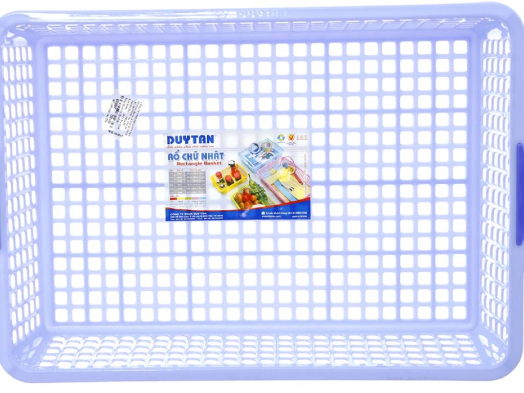 Rổ nhựa chữ nhật Duy Tân 3T0 39cm (giao màu ngẫu nhiên) 3