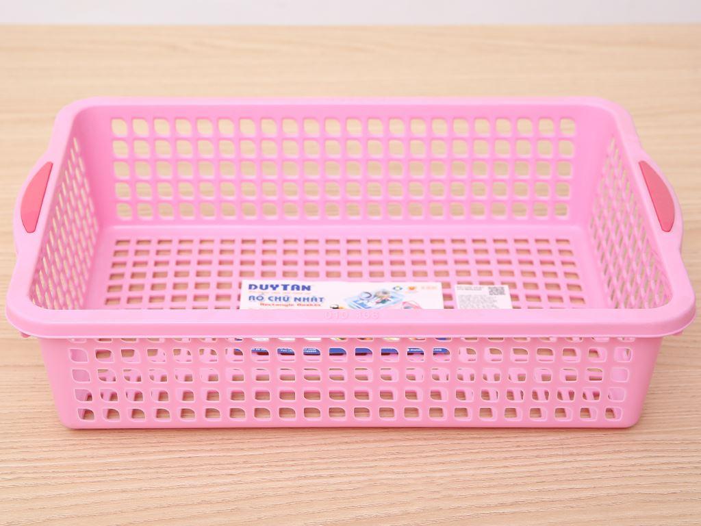 Rổ nhựa chữ nhật Duy Tân 2T2 30cm (giao màu ngẫu nhiên) 1