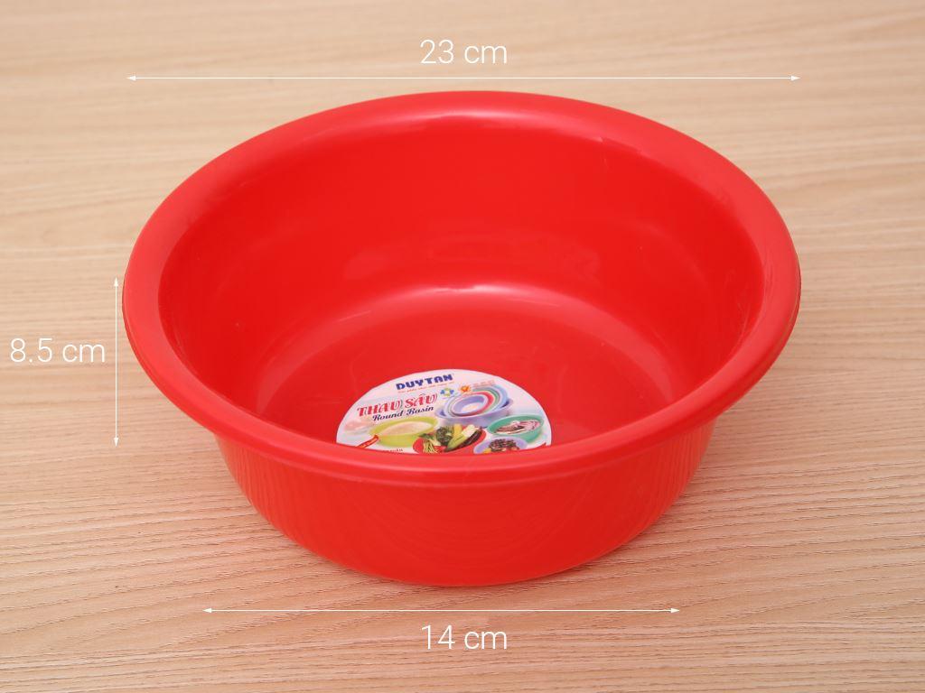 Thau nhựa tròn Duy Tân 2T4 20cm (giao màu ngẫu nhiên) 7