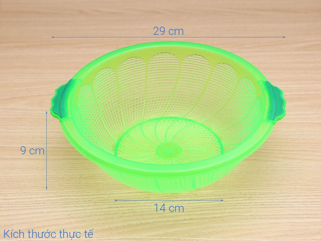 Rổ nhựa tròn Tý Liên 27cm 13
