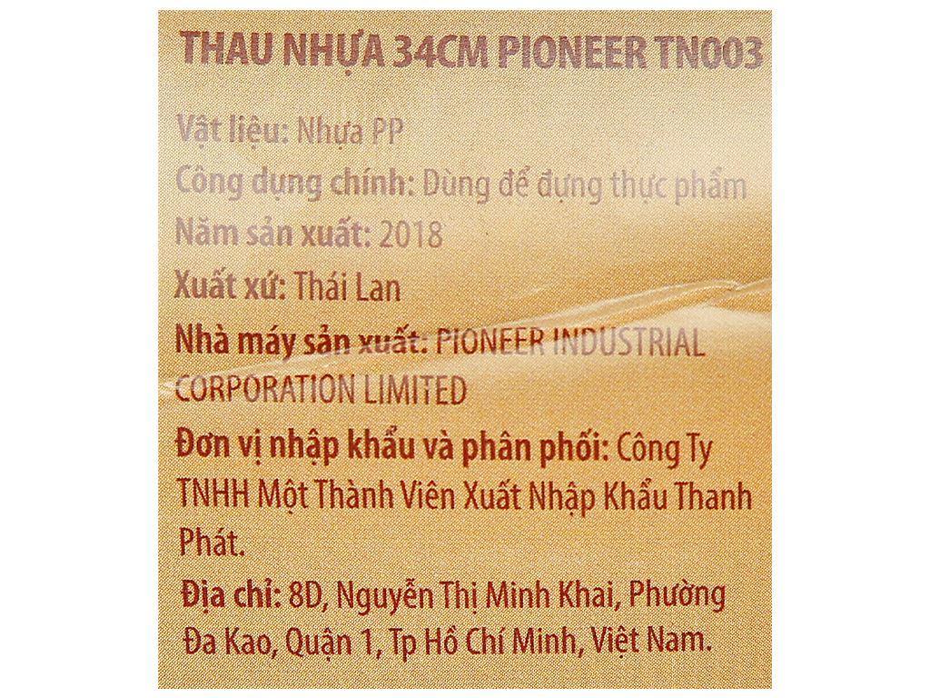 Thau nhựa tròn Thái Lan Pioneer TN003 34cm (giao màu ngẫu nhiên) 10