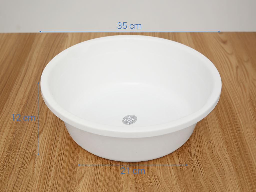 Thau nhựa tròn Thái Lan JCJ TN008 35cm (giao màu ngẫu nhiên) 16