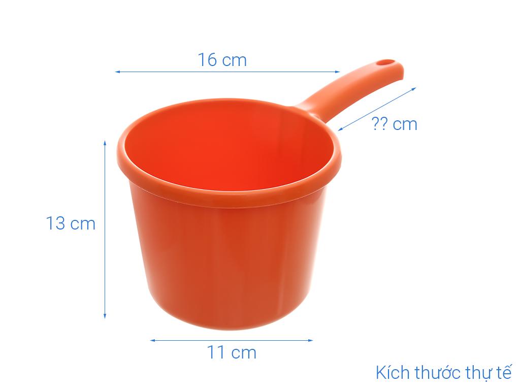 Gáo múc nước nhựa thái lan tròn Pioneer GN003 16cm (giao màu ngẫu nhiên) 11