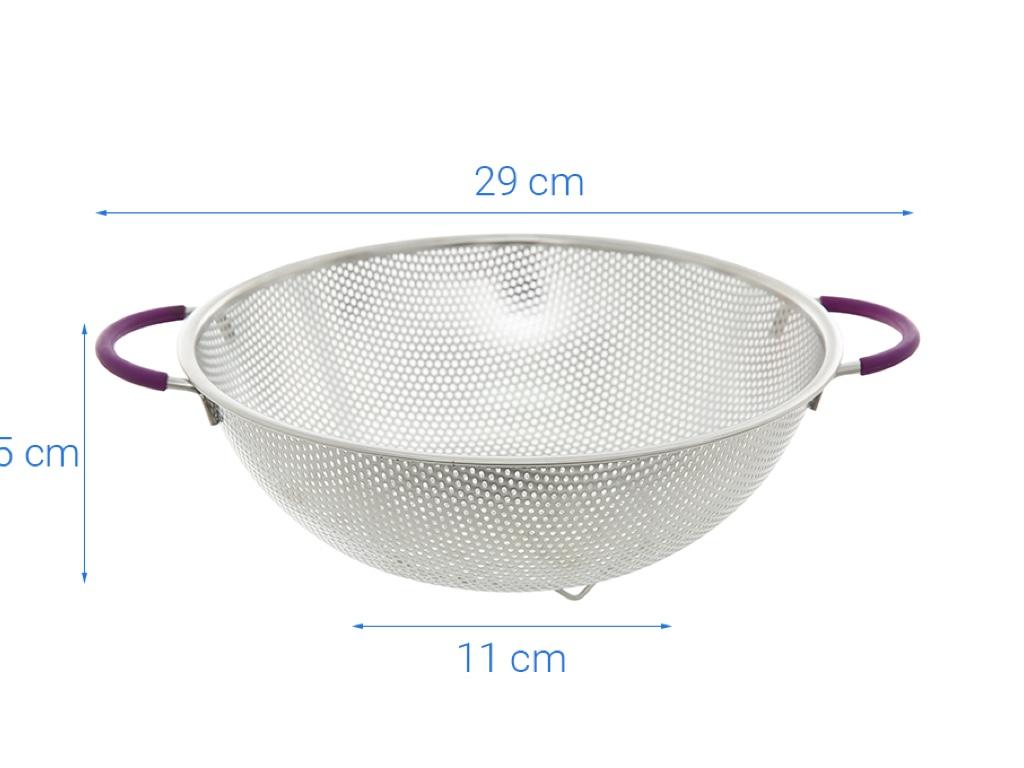 Rổ inox tròn Điện máy XANH RO001-28.5 29cm 5