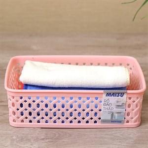 Rổ đan nhựa 14cm Duy Tân RDT1T4 hồng