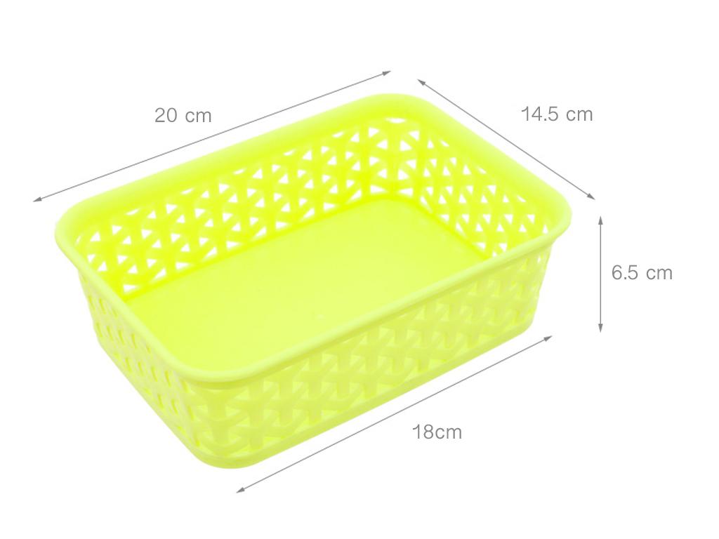 Rổ nhựa chữ nhật Tự Lập TL1-949 20cm (giao màu ngẫu nhiên) 4