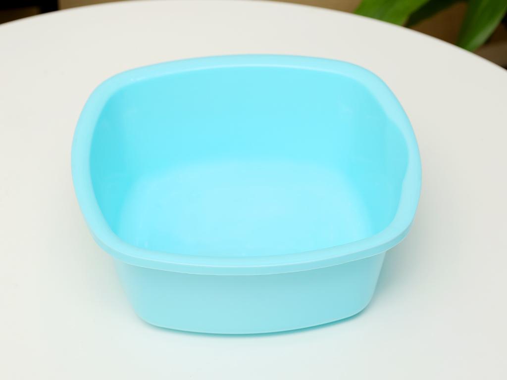 Thau nhựa vuông Tự Lập TL825 27cm xanh 1