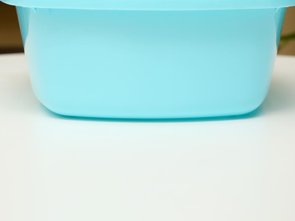 Thau nhựa vuông Tự Lập TL825 27cm xanh 3