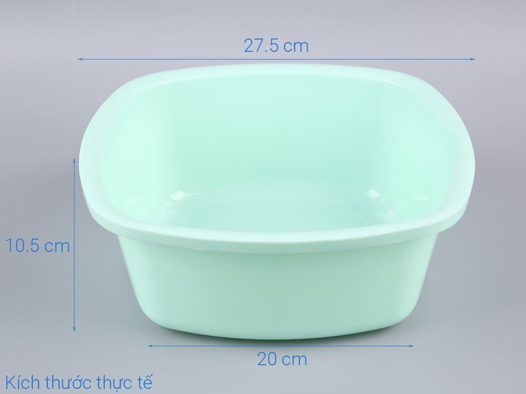 Thau nhựa vuông Tự Lập TL825 27cm 6