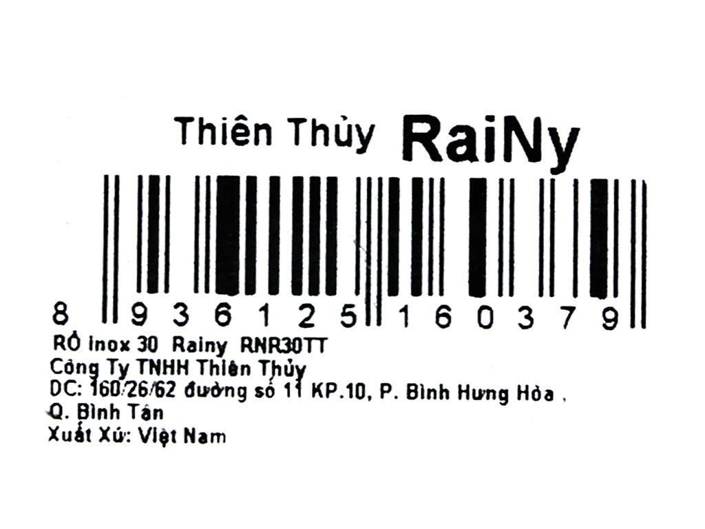 Rổ inox tròn Rainy RNR30TT 30cm 8