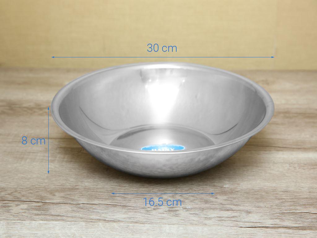 Thau inox tròn Rainy RNT30TT 30cm 6