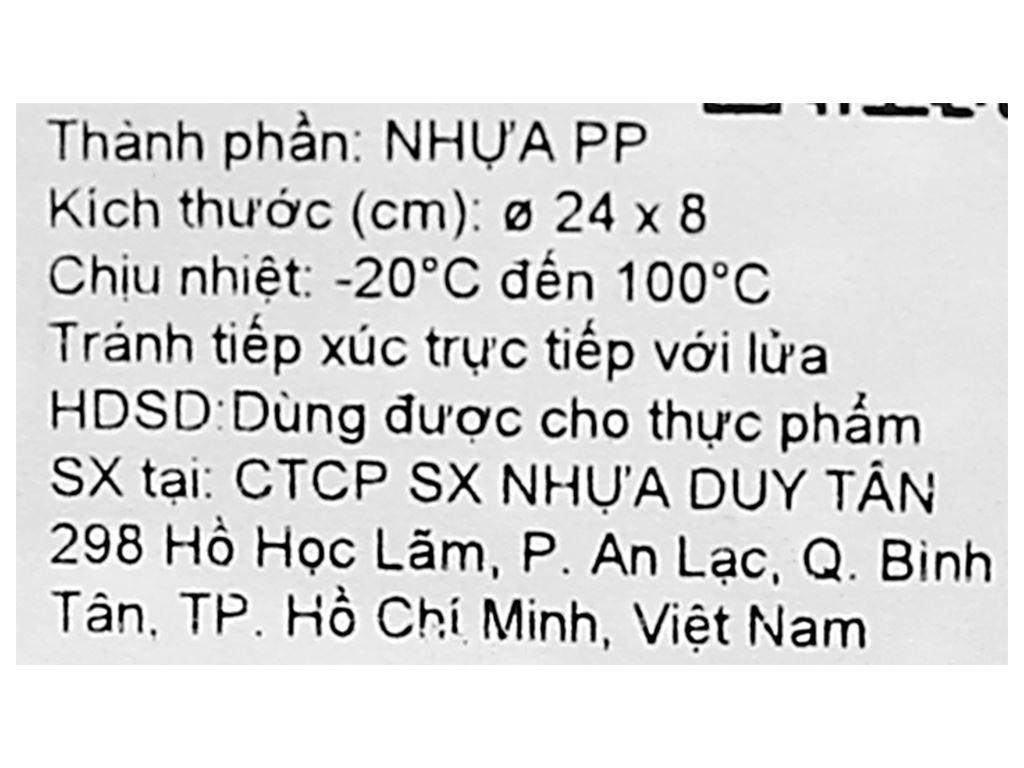 Rổ nhựa gạo Duy Tân 24cm (giao màu ngẫu nhiên) 8