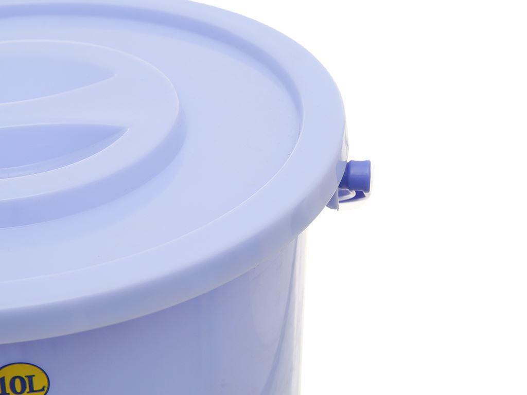 Xô đựng nước nhựa tròn có nắp Duy Tân 10 lít 3