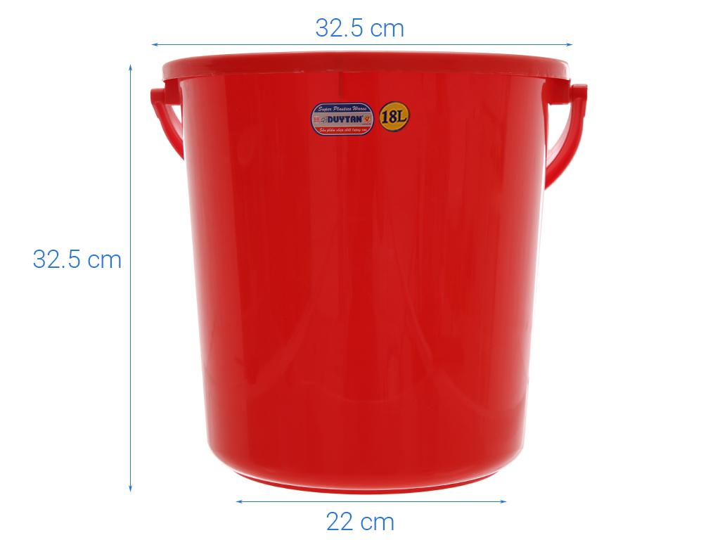 Xô đựng nước nhựa tròn có nắp Duy Tân 18 lít (giao màu ngẫu nhiên) 5