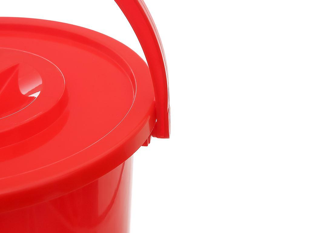 Xô đựng nước nhựa tròn có nắp Duy Tân 18 lít 3