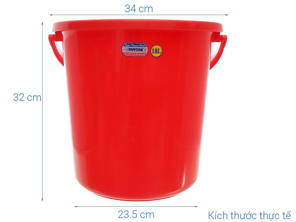 Xô đựng nước nhựa tròn có nắp Duy Tân 18 lít 6