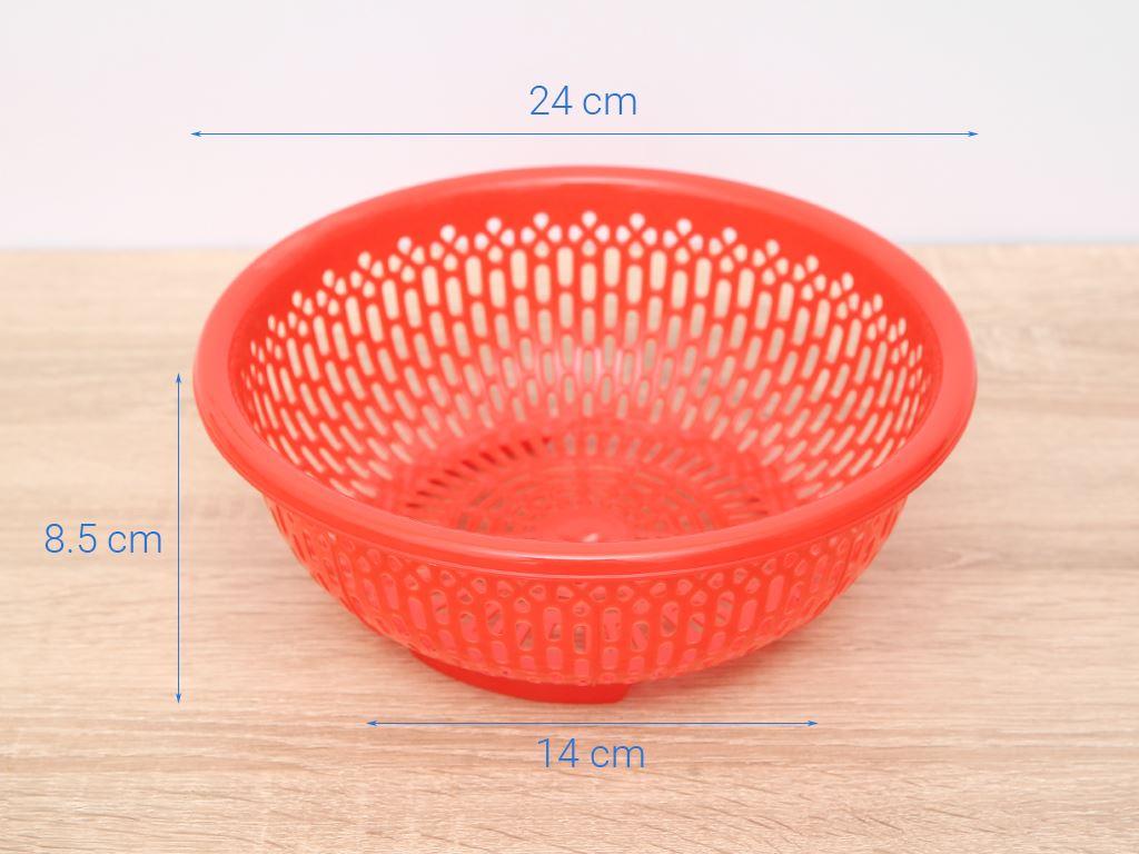 Rổ nhựa tròn Duy Tân 2T4 24cm (giao màu ngẫu nhiên) 7