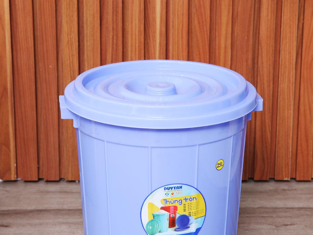 Thùng nhựa tròn có nắp Duy Tân 25 lít (giao màu ngẫu nhiên) 2
